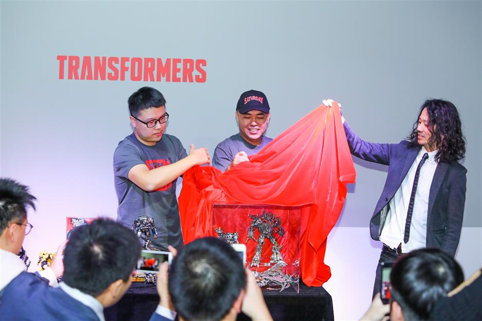 Hasbro unveils new Transformers designs in China