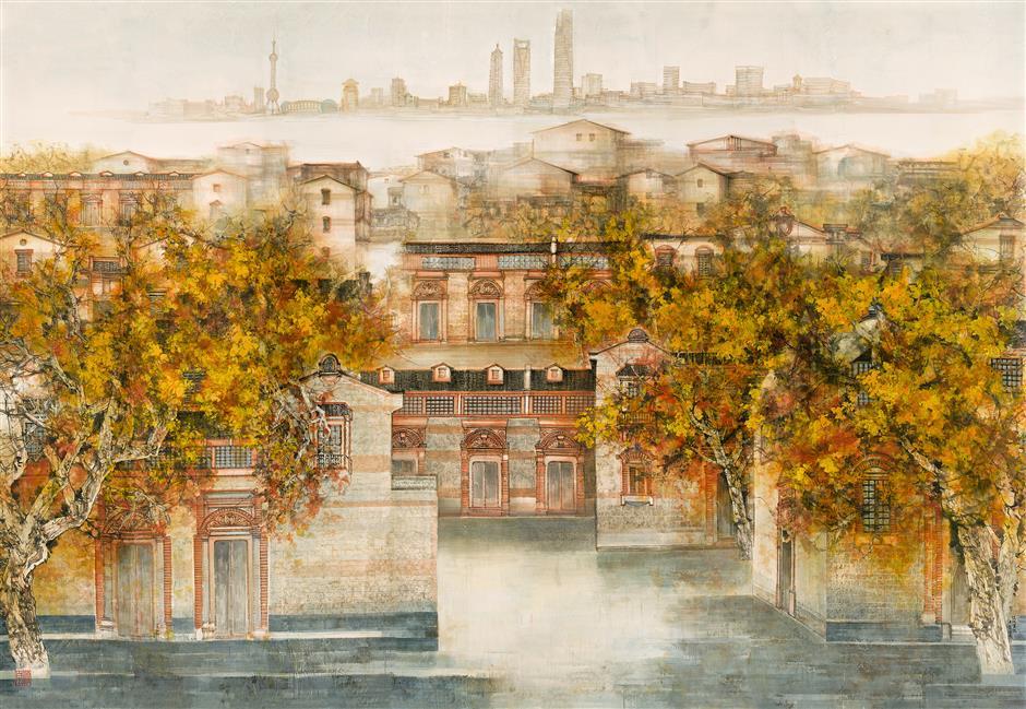 Capturing the spirit of Shanghai in paint