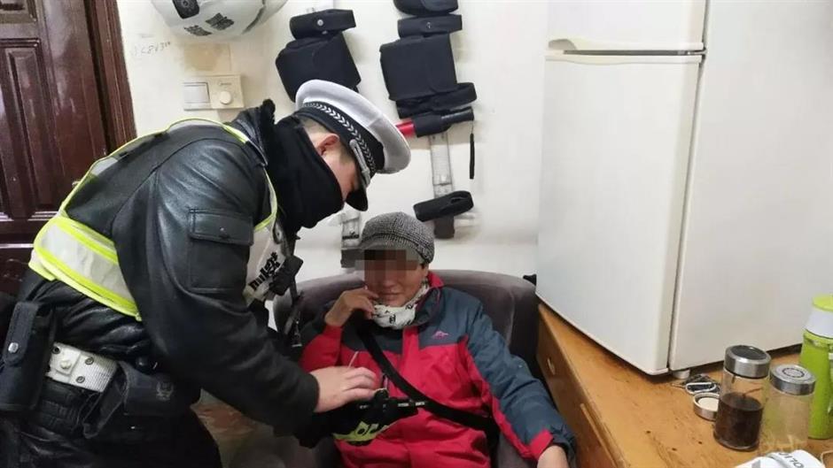 Video education for jaywalkers in suburban Shanghai