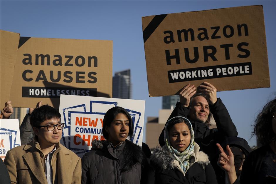 Amazon drops New York headquarters plan amid protests