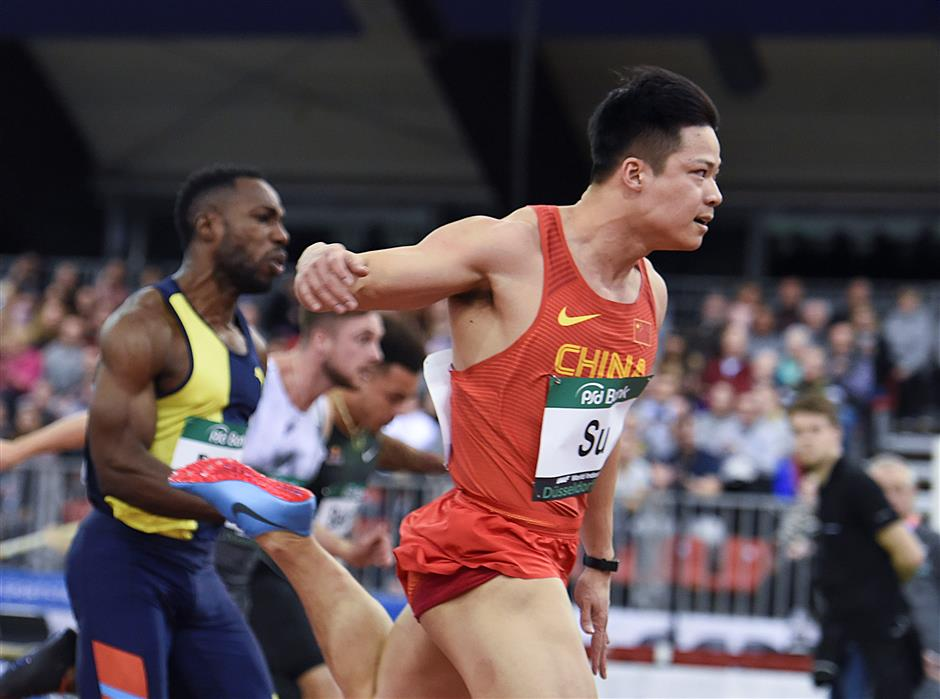 China's Su Bingtian lands third indoor win in Dusseldorf