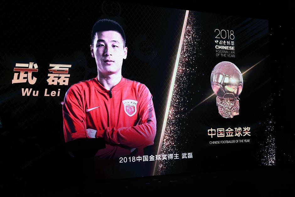 Wu Lei, Wang Shuang awarded Golden Ball at Chinese Super League gala