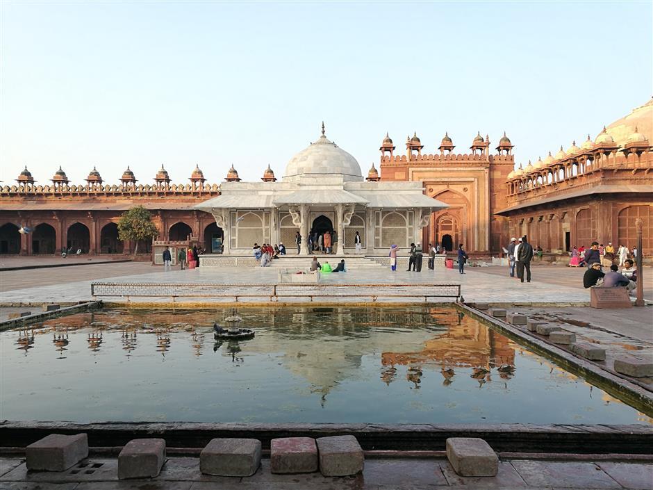 Majestic Taj Mahal, a modern wonder and symbol of love