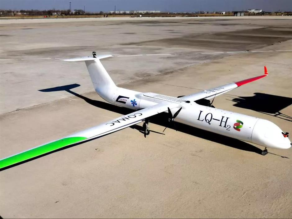 China develops new energy battery powered UAV