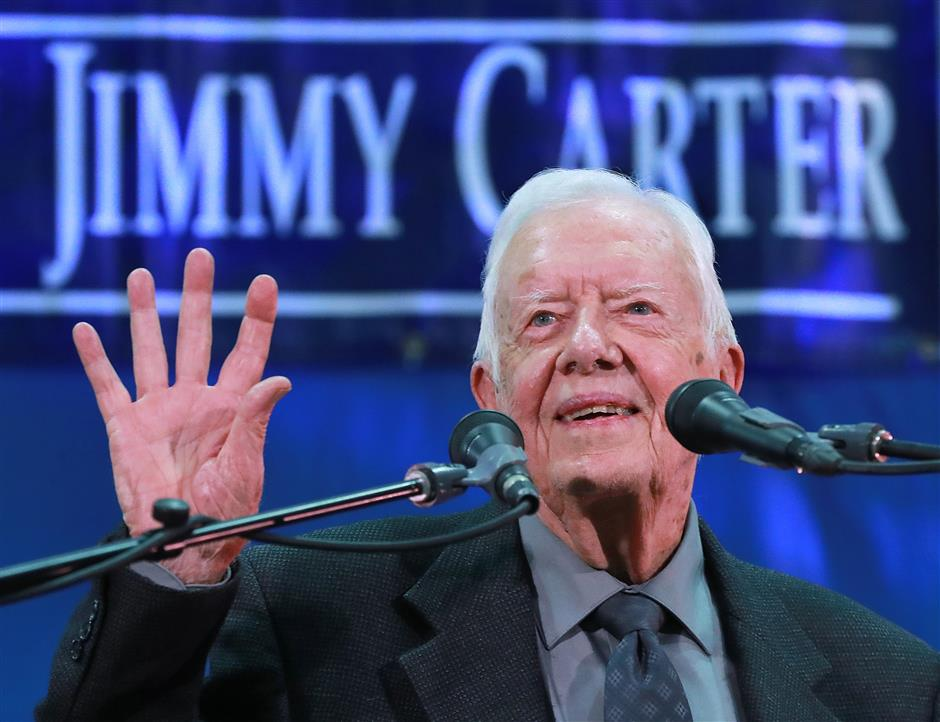 Former US president Jimmy Carter becomes longest-living American leader in history