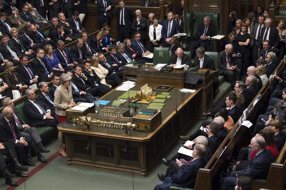 British MPs reject Brexit deal for third time