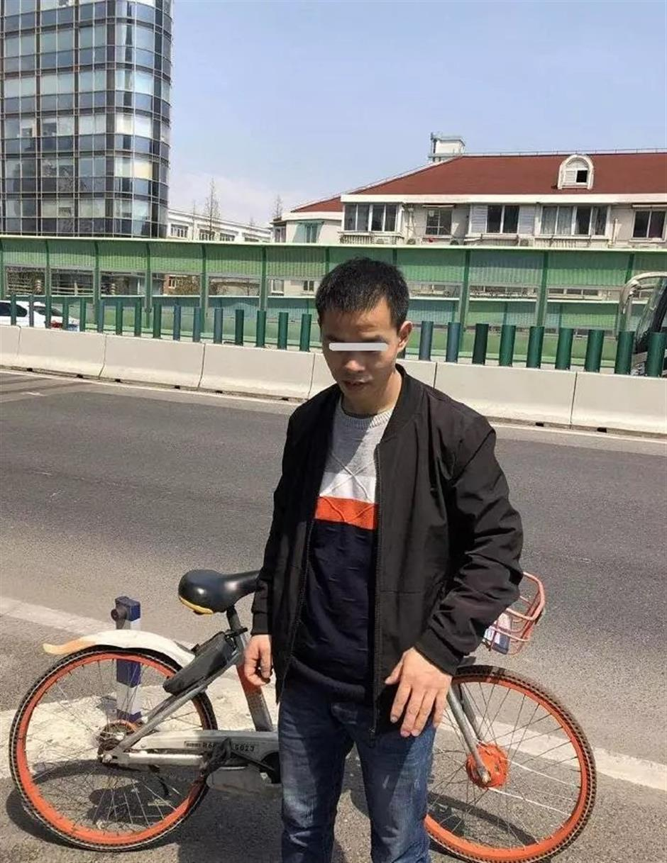 Man fined for riding sharedbike on elevated road