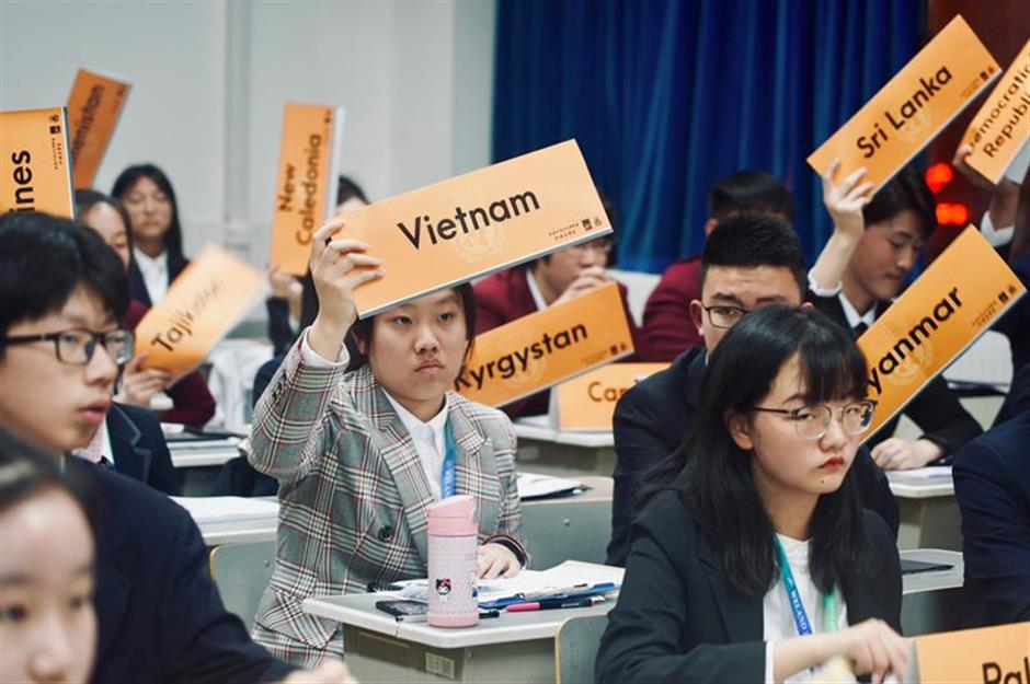 Prestigious Model UN event hosted in Shanghai