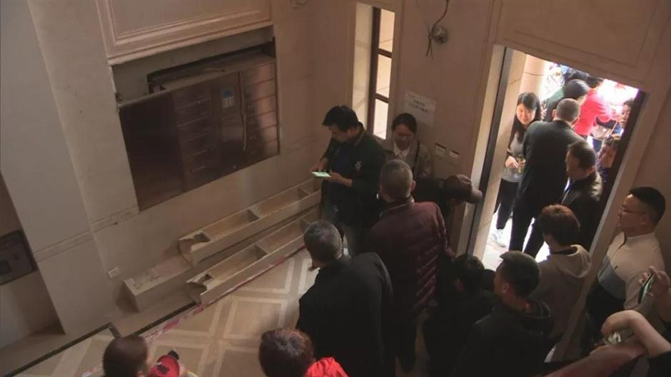 Boy killed by fallen decorative stone in residential building