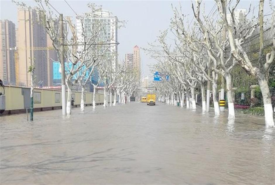 Flooded road reopens to traffic