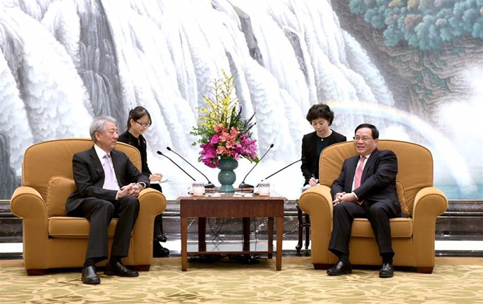 Party Secretary Li meets Singapore delegation