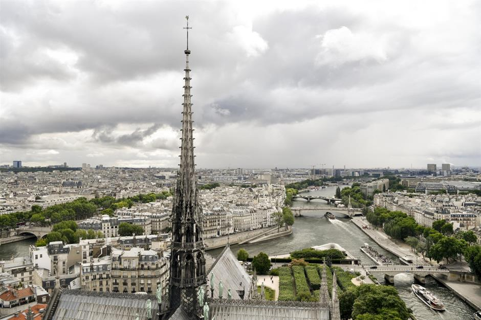 France to launch int'l competition to rebuild Notre Dame fire-ravaged spire