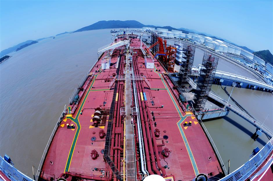 Zhoushan aims to be world bunkering center