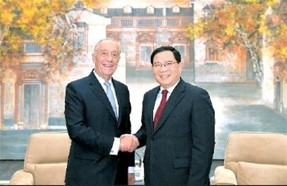 Party Secretary Li meets Portuguese president