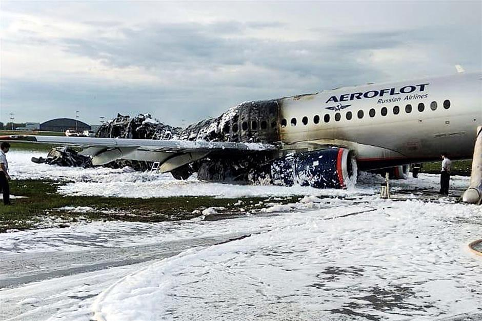 Russia refuses to ground Superjets after accident kills 41 in Moscow