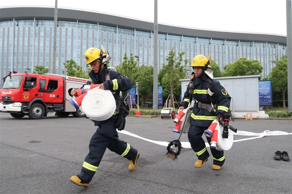 First on-site drill for second CIIE held