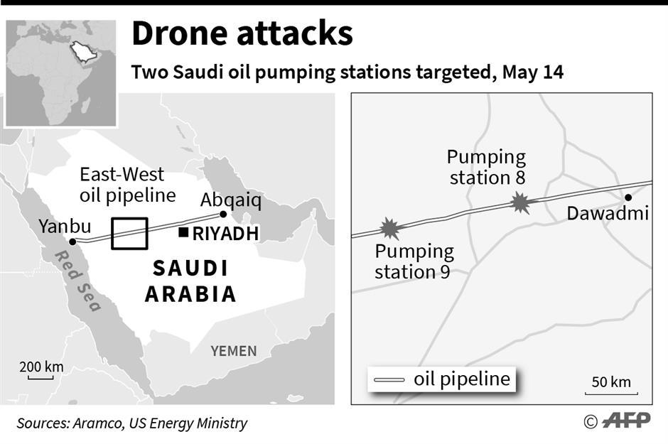 Drone attacks shut Saudi pipeline