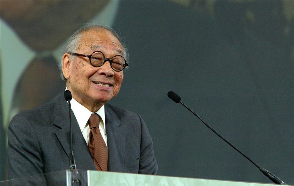 I.M. Pei, a pillar of modern architecture, dies at 102
