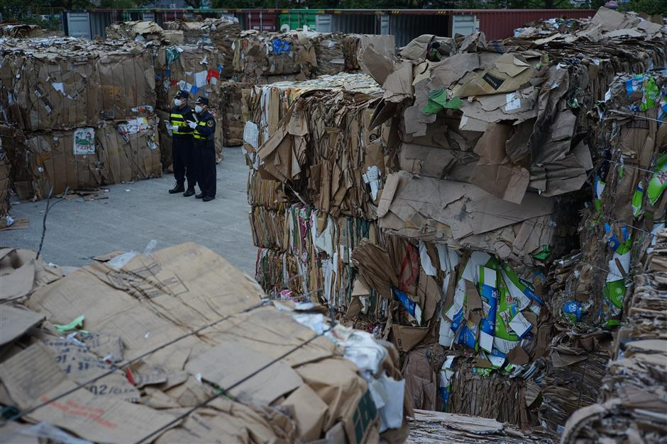 Blue is the sky as customs goes after solid waste