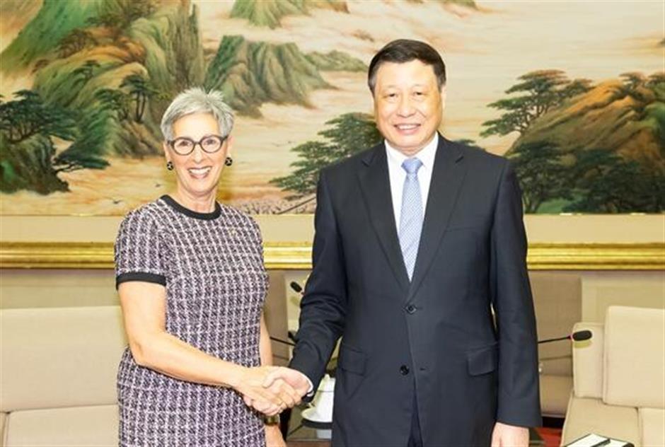 Mayor Ying meets Russian, Australian officials