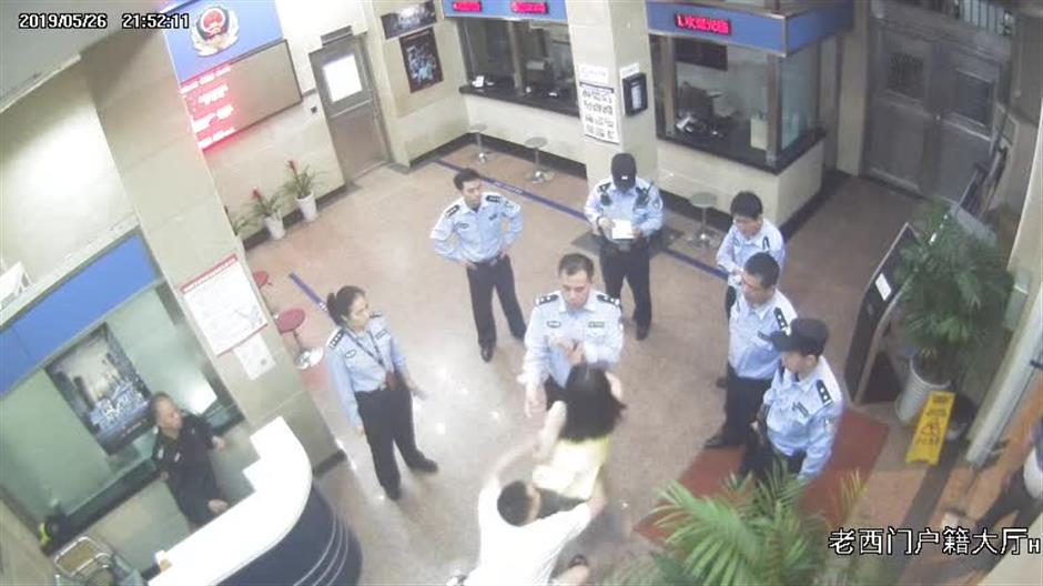 Drunk woman detained for making scene at police station