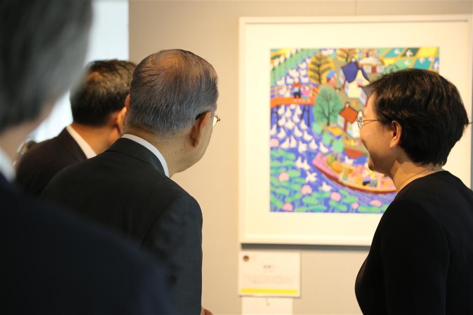 Jinshan farmer paintings on show in Tokyo