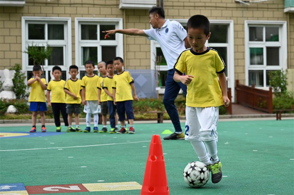 Child's play: the kindergartens driving China's football dream