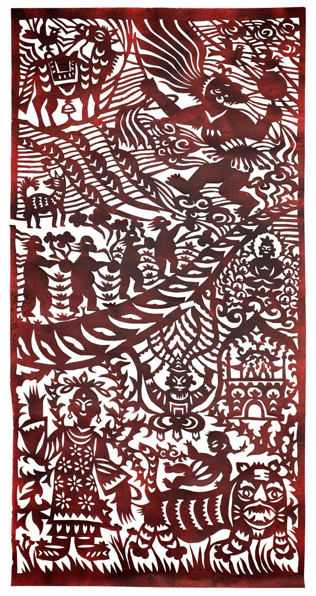 Exhibit celebrates cultural folklore of paper-cut art
