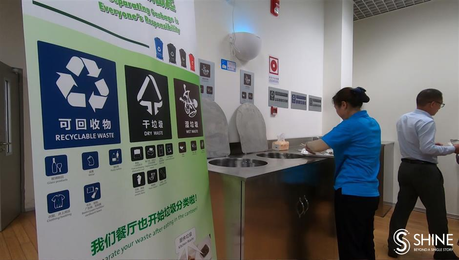 Local multinational companies promote garbage sorting in-house