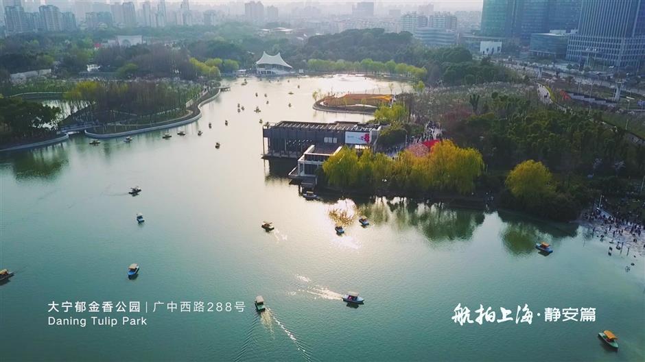 Drones reveal Jing'an beauty