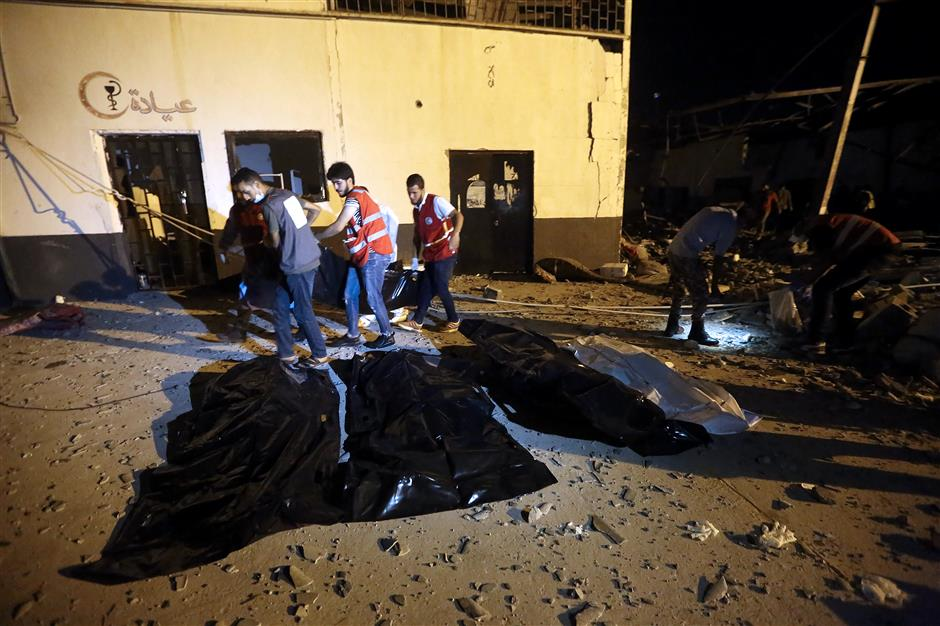 40 killed in airstrike on Libya migrant center