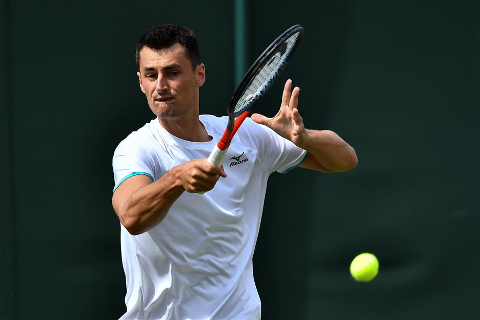 Tomic fined for not meeting 'professional standards' in Wimbledon loss
