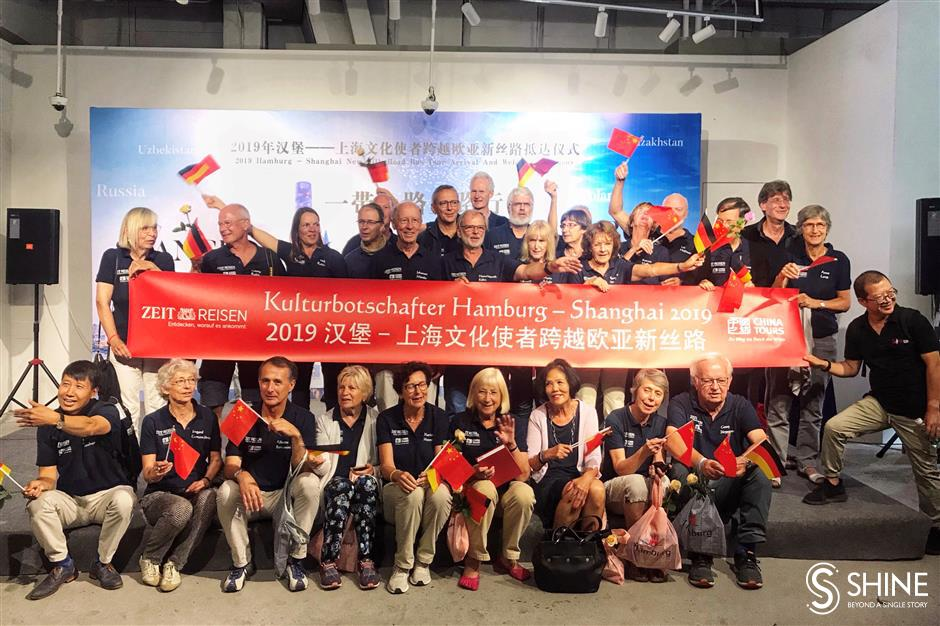 German adventurers travel 13,000km to Shanghai