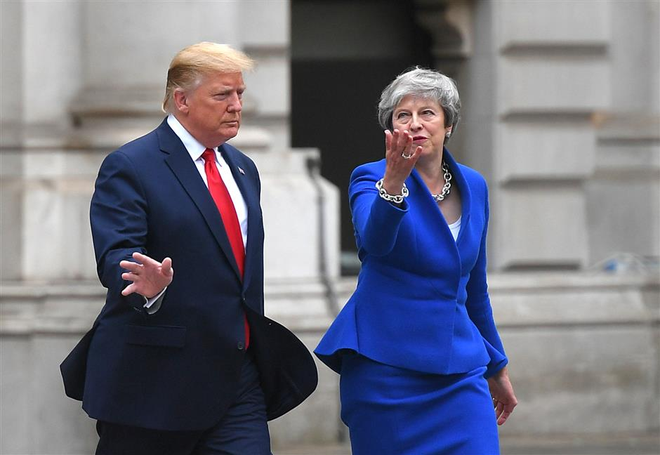 Trump furious with May, UK envoy