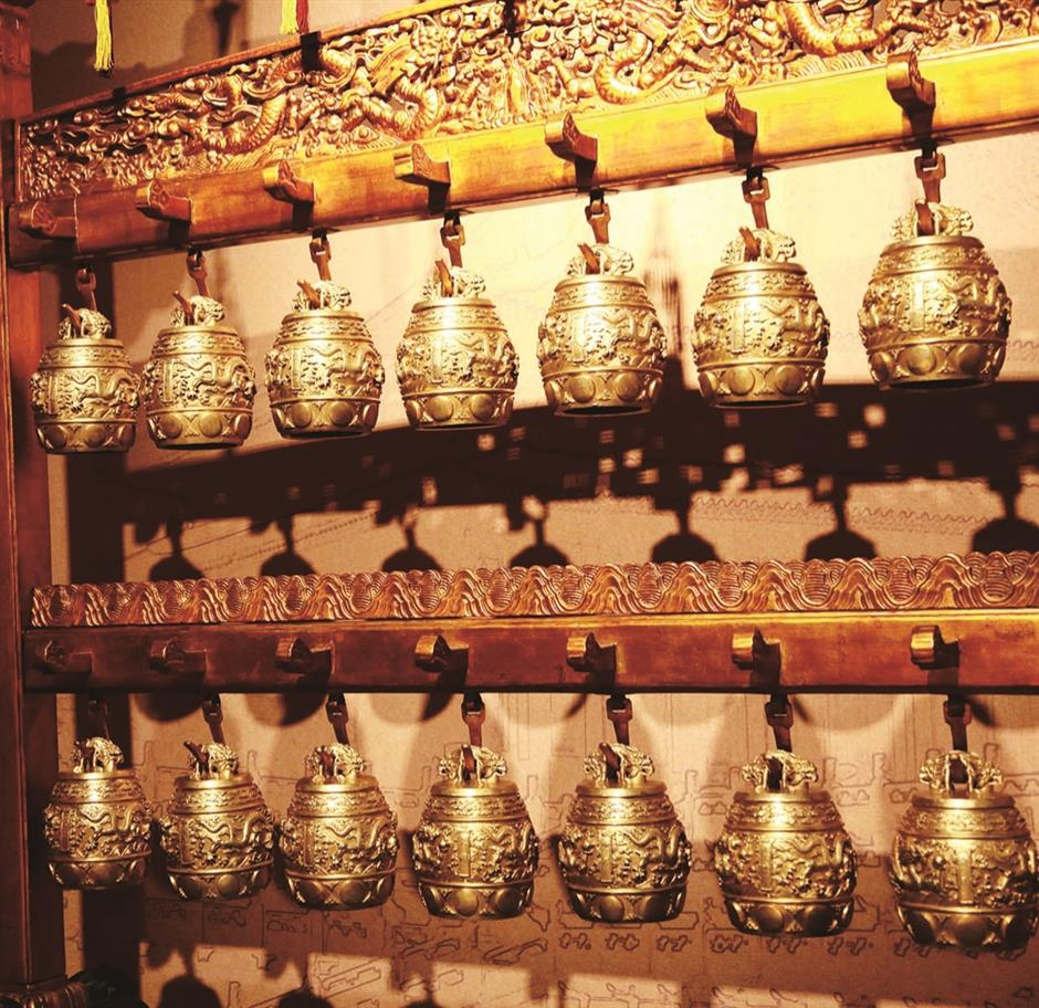 Golden bianzhong symbolizes a halcyon epoch in China's history