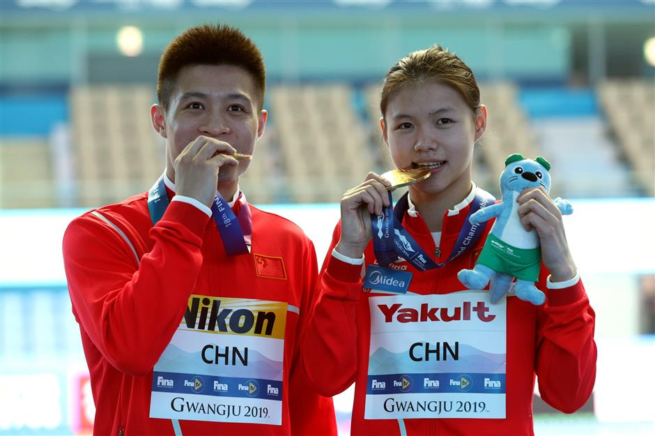 China claims 8th gold to lead Gwangju worlds