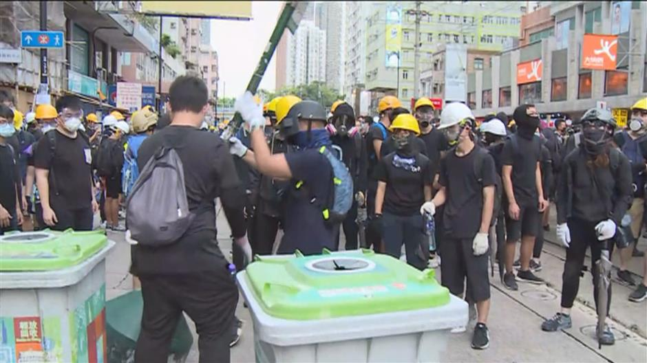 HKSAR gov't strongly condemns radical protesters' violent acts, at least 49 arrested