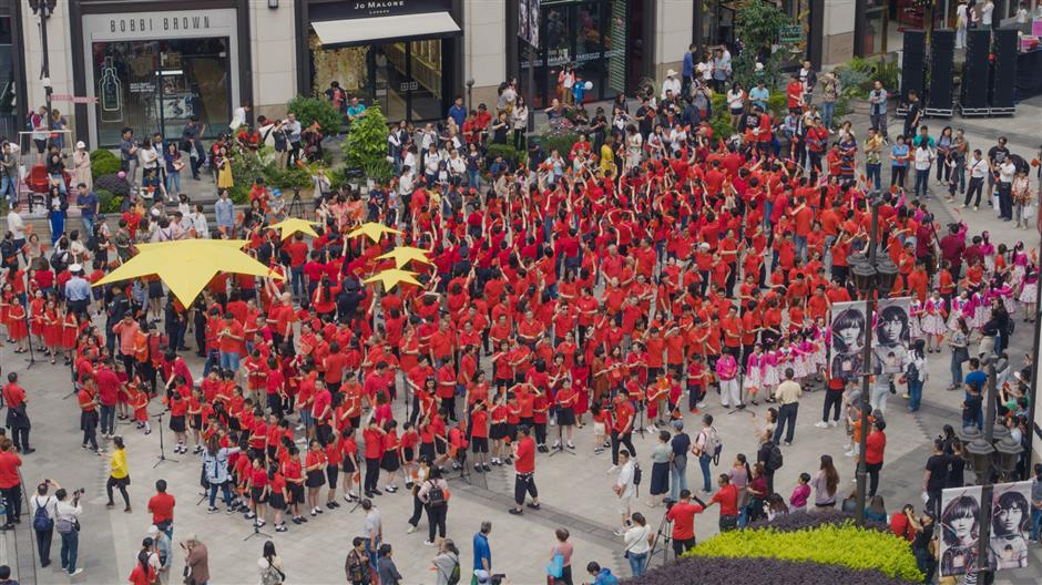 Red-letter day elicits flags, music