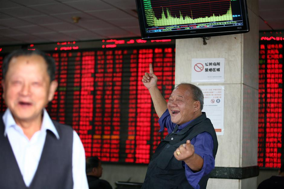 China's main equity indexes surge