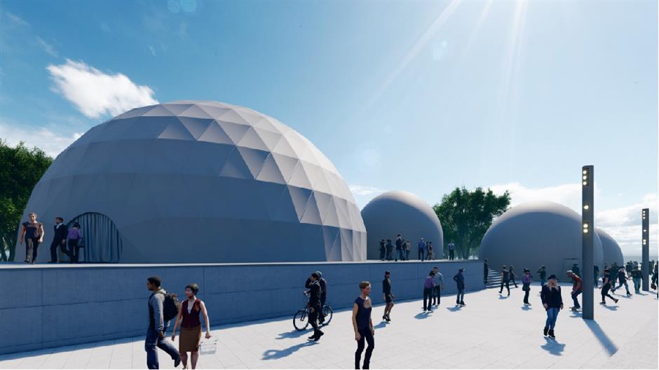 Future of art illuminates the Bund
