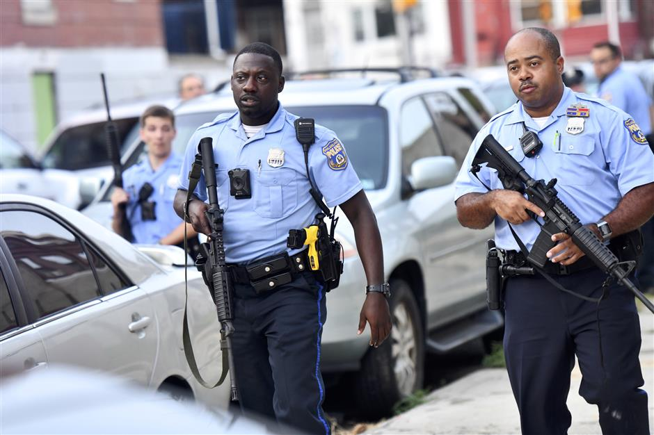6 US police wounded in Philadelphia shooting