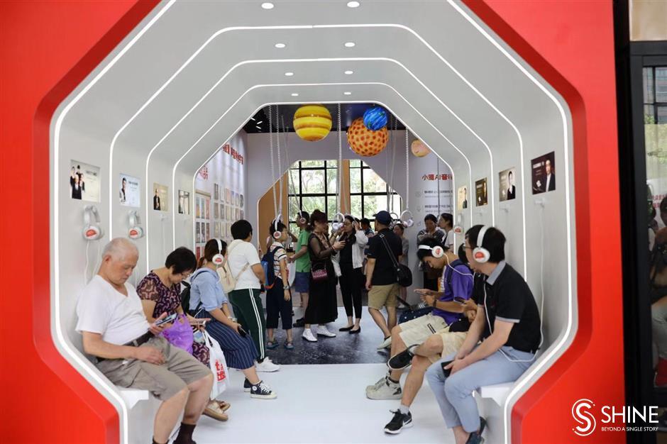 Online literature and audiobooks shine at Shanghai Book Fair