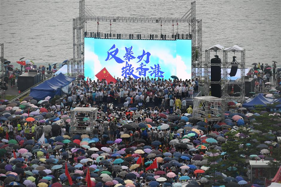 476,000 call for support for HKSAR govt, police, in 'Oppose Violence, Save Hong Kong' rally