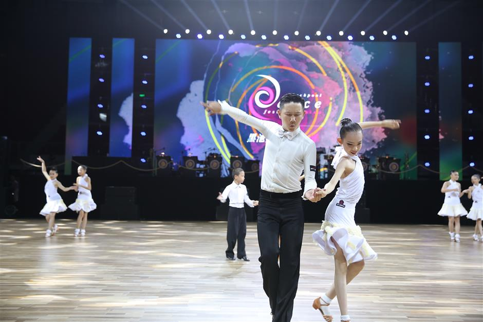 Baoshan swings to 'Ballroom Dance Olympics'