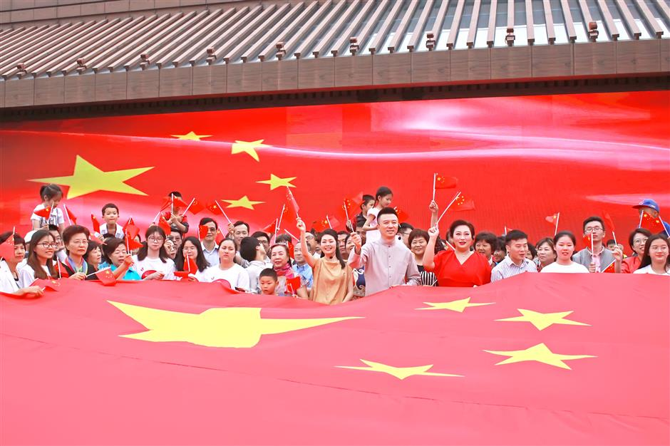 Flash mob at Guangfulin Relics Park