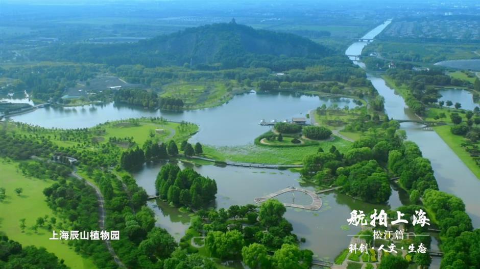Drones capture Songjiang's charm