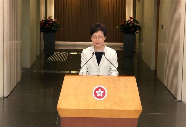 HKSAR chief executive promises maximum efforts to build dialogue platform, reiterates zero-tolerance to violence