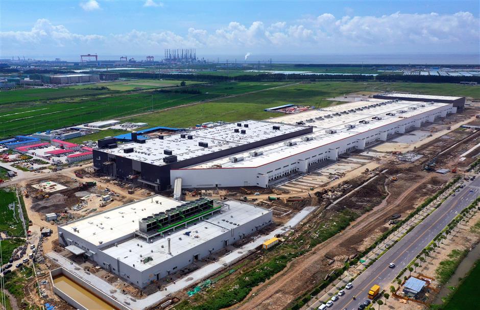 Top speed at Tesla Shanghai gigafactory