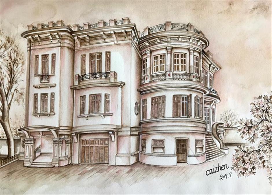 Vibrant watercolors record disappearing quaint neighborhoods