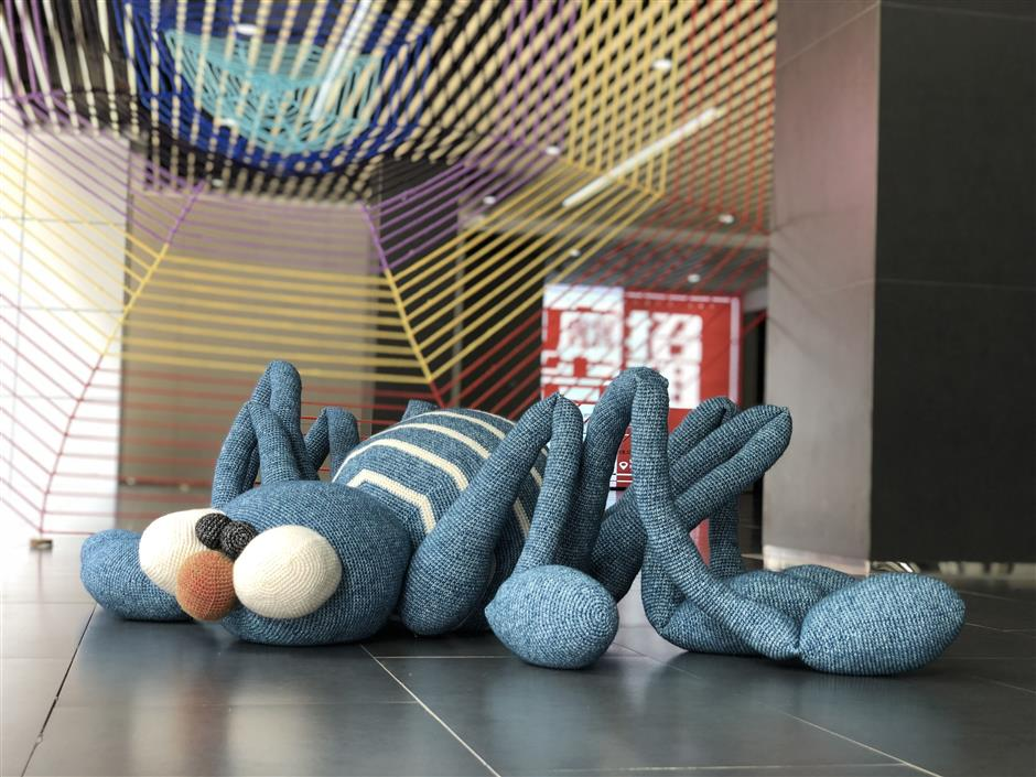 Knitted works highlight the baby blues